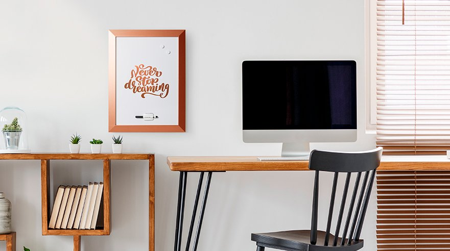 copper elements in home office decoration bi-office